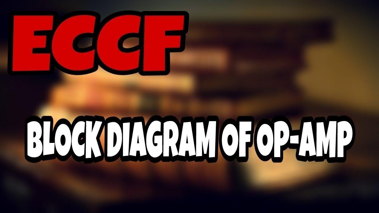 block diagram of operational amplifier (op-amp) in hindi | eccf