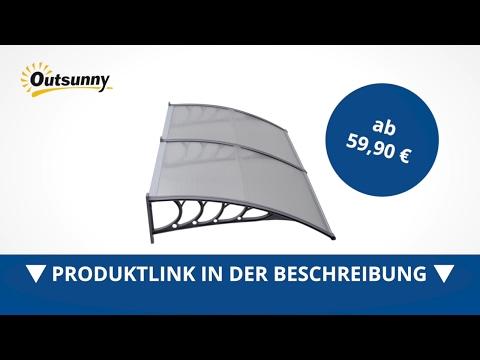 100x300cm Braun Terrassent/ür Drau/ßen Pultbogenvordach T/ürdach Vordach /Überdachung Haust/ürvordach