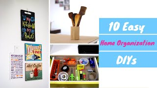 10 No Cost Home Organization Ideas | Easy DIY Home Organizing Hacks