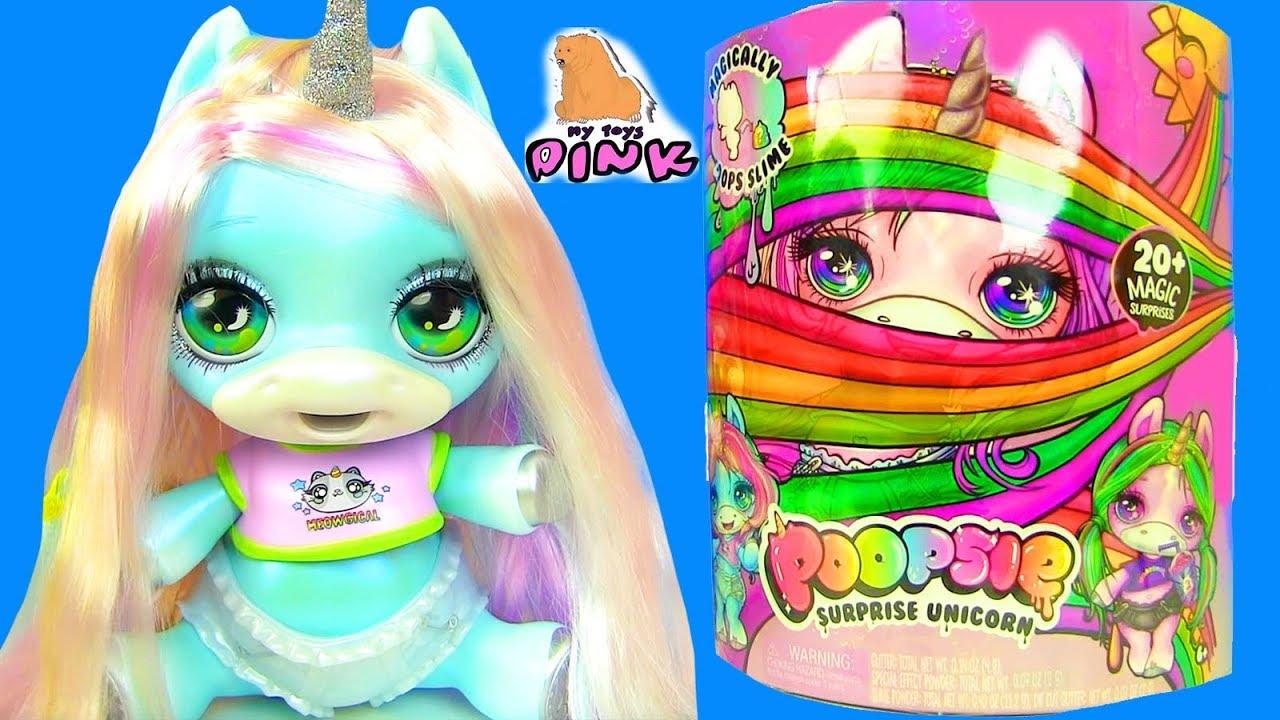 сюрприз пони единорог Unicorn 4 новых лизуна Surprise Baby Unicorn With Slime Elsa Toddler