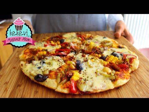 10 Dakikada Tavada Pizza 🍕 Çayınızı Demleyin Yapmaya Başlayın, Siparişe Son:) Ayşenur Altan