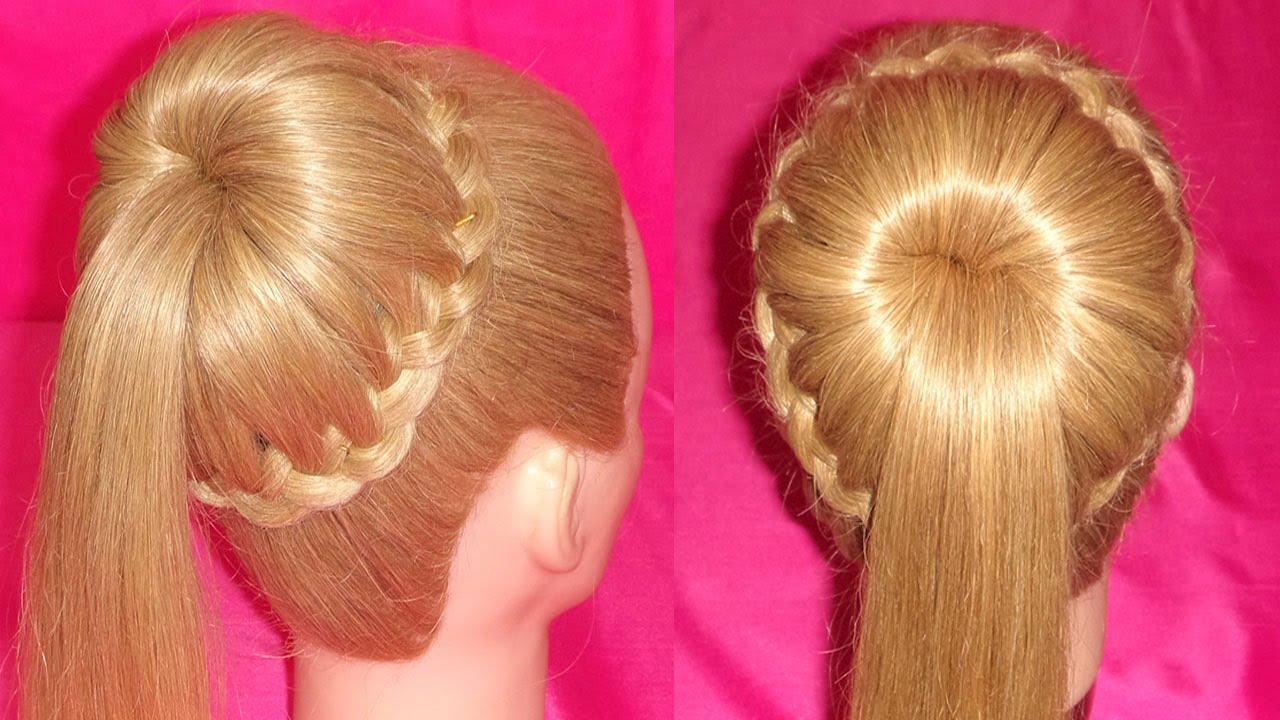 Peinado facil coleta elegante peinados con coletas f ciles viriyuemoon youtube - Peinados faciles y elegantes ...