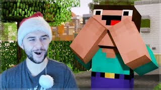 REACTING TO NEW HOUSE FEATURING DERP!! MINECRAFT MOVIE Minecraft Animations!