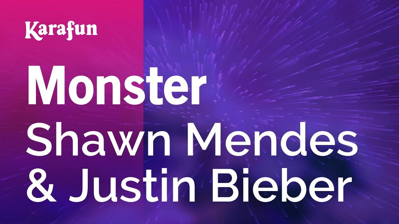 Monster - Shawn Mendes ft. Justin Bieber | Karaoke Version | KaraFun
