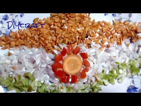 Salad Decoration Idea # 18 / Indian map on salad