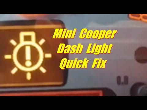 How To Replace Mini Cooper Parking Light Bulb - Dash Light Fix