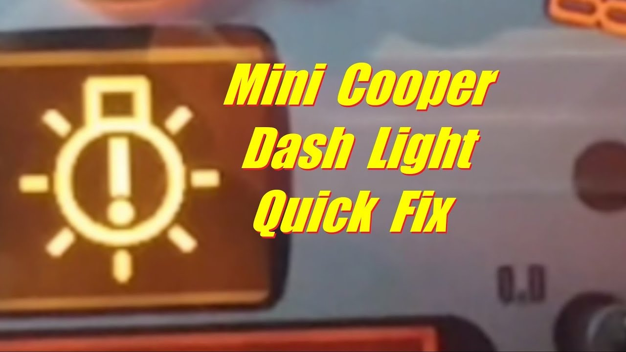 hight resolution of how to replace mini cooper parking light bulb dash light fix