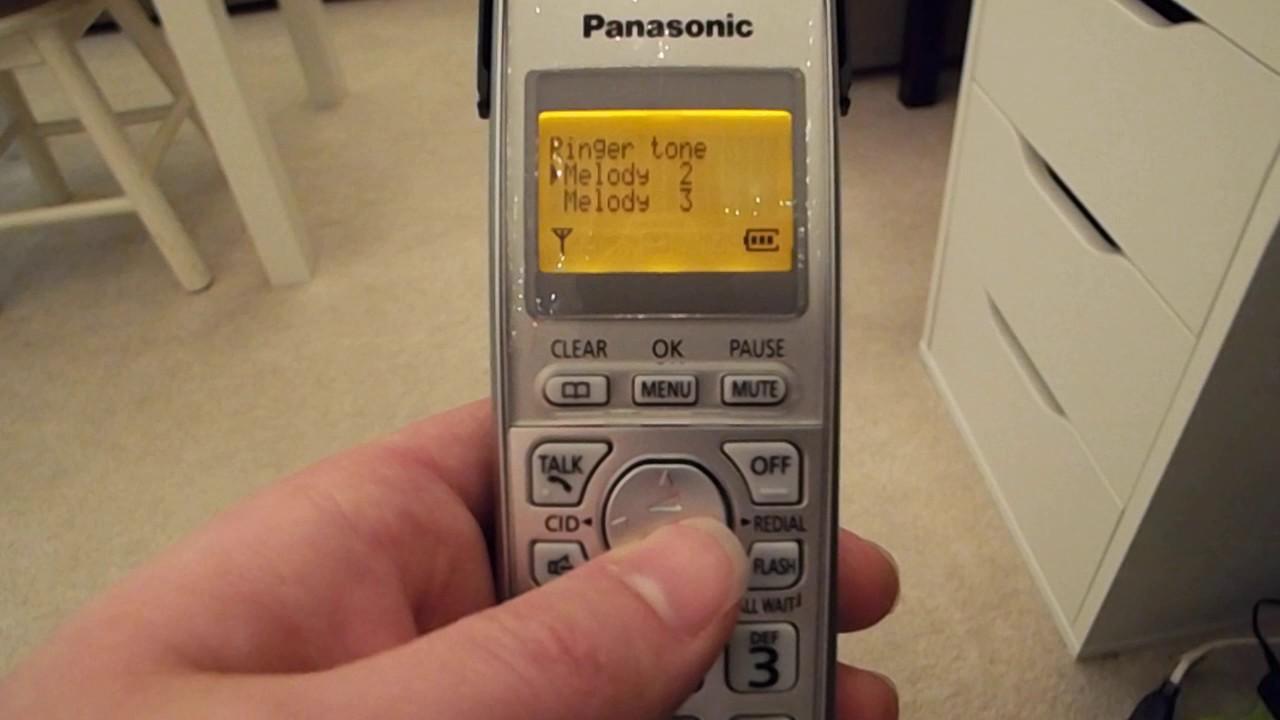 ringtones on the panasonic kx tga402 youtube rh youtube com panasonic cordless telephone kx-tga402 manual panasonic cordless phone manual kx tga401