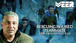 Rescuing Injured Teammate - 9KM Endurance Run | India's Citizen Squad E4P4 | Veer By Discovery