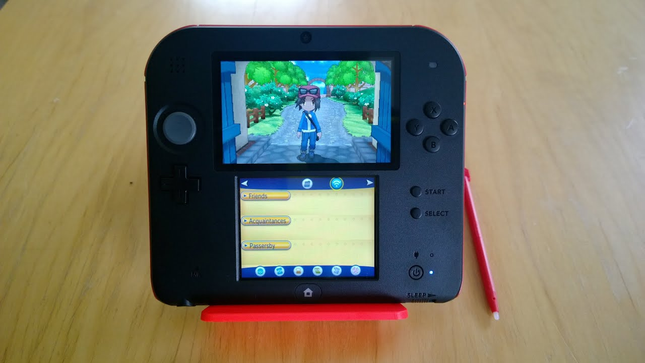 gaming on the nintendo 2ds: pokemon y - youtube