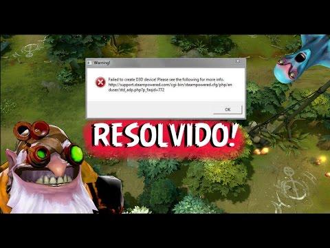 Como Resolver Failed to create D3D Device! em todos os jogos !