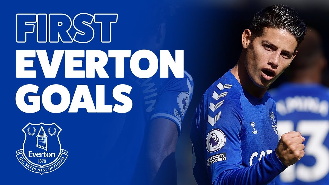 FIRST EVERTON GOALS!   FROM SEAMUS COLEMAN TO JAMES RODRIGUEZ