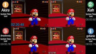 [Super Mario 64] 0 Star Top 4 Speedrunners Comparison