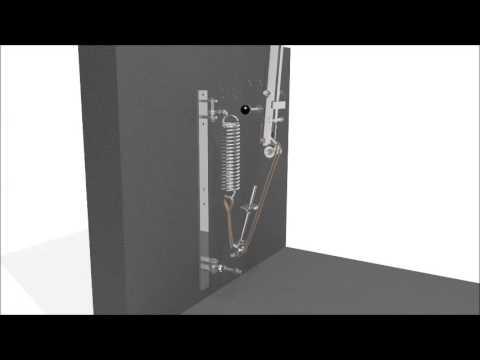 GEA Dairy Farming - 3D Animation Barrier with Spring / Federgestützter Schlagbaum