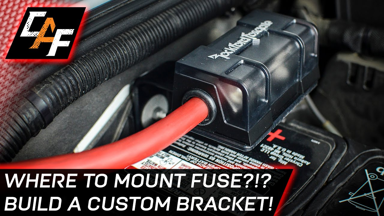 small resolution of installing an amplifier mount the fuse correctly jeep build caraudiofabrication youtube