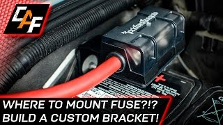 Installing an Amplifier? MOUNT THE FUSE CORRECTLY! - Jeep Build - CarAudioFabrication