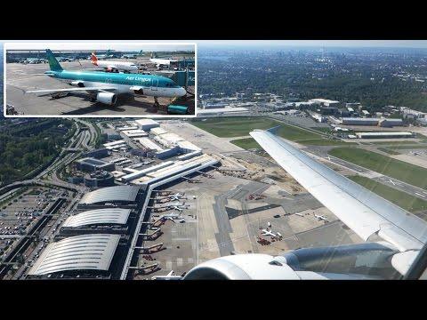 SCENIC Aer Lingus A320: GREAT springtime scenery Hamburg-Dublin [AirClips full flight series]
