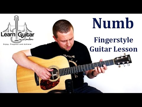 Numb - Fingerstyle Guitar Lesson - Linkin Park - How to Play - Part 1