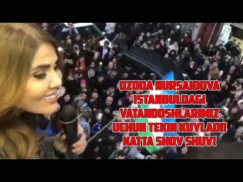 Ozoda Nursaidova Istanbuldagi vatandoshlarimiz uchun tekin kuyladi! Katta shov shuv!