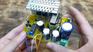 Simple 200W Inverter 12V to 220V   Use Electronics Component from OLD ATX PSU