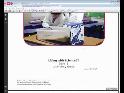 LMS Training - Living with Science USA - Lesson Plans and Program Guides