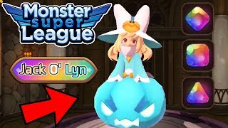 How to gem Jack O' Lyn & How to Farm for her! | Monster Review | Monster Super League