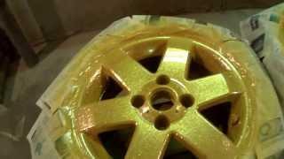 Покраска автомобильных дисков под золото(, 2013-11-21T18:22:19.000Z)