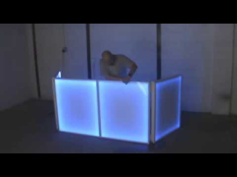 Lighted Dj Booth Table Cover 72x42 Youtube