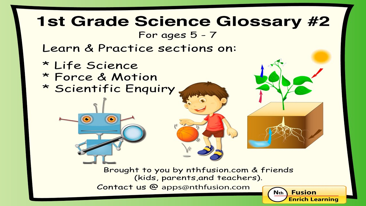 Free Worksheet 1st Grade Science Worksheets 1st grade science glossary volume 2 app sample learn and practice youtube