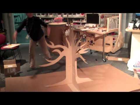 Cardboard Pop Up Tree Youtube