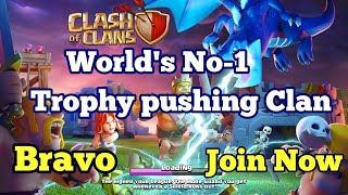 CLASH OF CLANS - BEST TROPHY PUSHING CLAN IN THE WORLD | COC BEST SEASON TROPHY PUSH