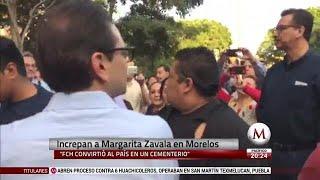 Increpan a Margarita Zavala en Morelos