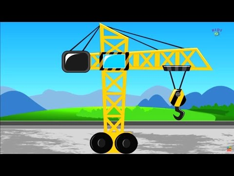 Kids channel crane | construction vehicles for children