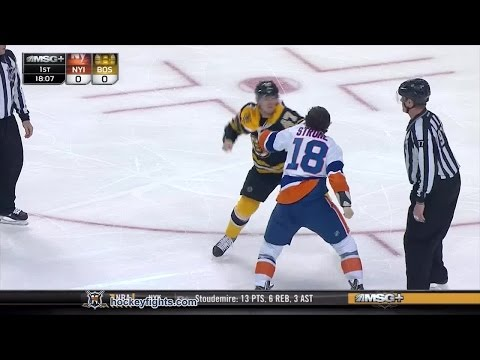 Ryan Strome vs Torey Krug Feb 7, 2015