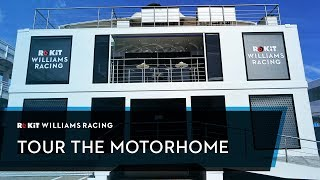 Take A Tour Of The ROKiT Williams Racing Motorhome
