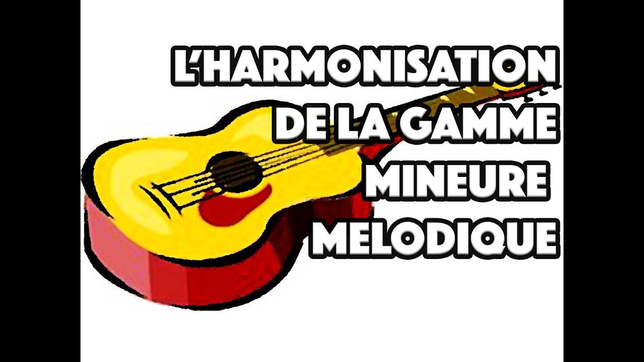 L'HARMONISATION DE LA GAMME MINEURE MELODIQUE - LE GUITAR VLOG 024