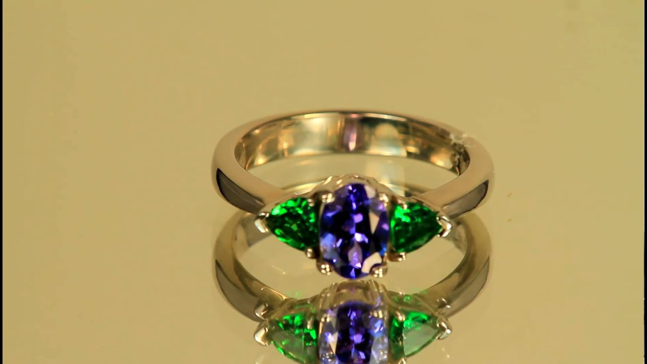watch youtube garnet mali rings tsavorite diamond ring