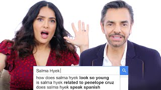 Salma Hayek & Eugenio Derbez Answer the Web