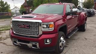 2019 GMC Sierra 3500HD Denali Dually 6.6L Duramax Diesel Red Oshawa ON Stock #190075