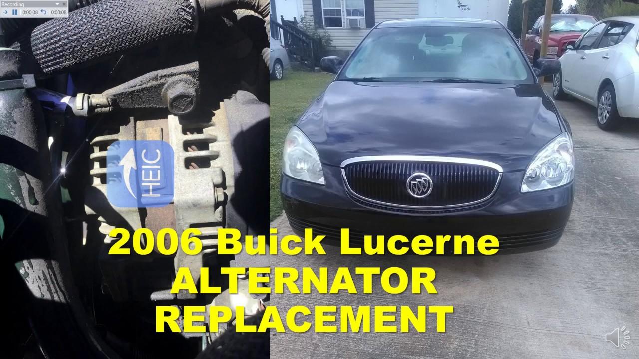 2006 Buick Lacrosse Alternator