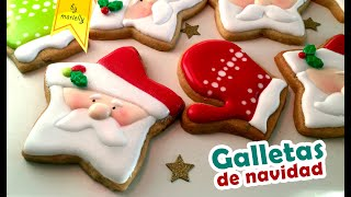 Galletas De Navidad Con Glasa O Royal Icing By Marielly Youtube