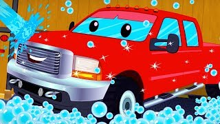 Gambar cover Pickup Truck | Car Wash Cartoons | Vehicle Videos For Children - Kids Channel