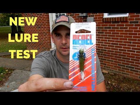 The REBEL HELLGRAMMITE Fishing Test