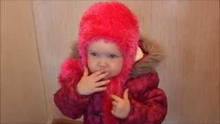 зимняя шапка для ребенка 2 - 3 лет ( травкой ) - winter hat for a child 2 - 3 years (grass)(Давайте вместе свяжем зимнюю шапочку из пряжи травка., 2015-01-08T06:59:31.000Z)