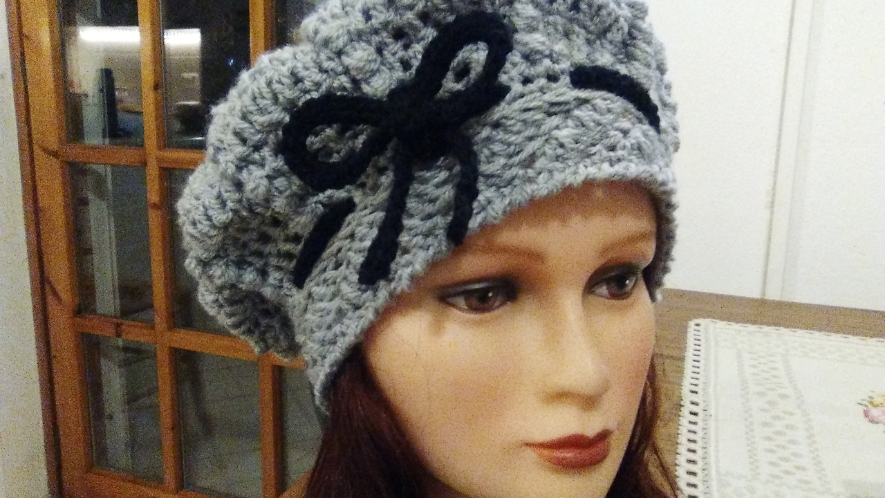5f0d07839307c HOW TO CROCHET A BERET all hook sizeS English tutorial easy and fast ...
