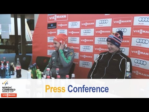 Press conference schonach team event 04.03.2016