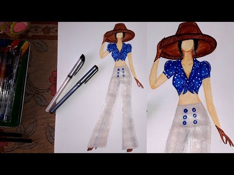 How To Draw A Cute Girl With Butterfly Pencil Sketch Drawing Tutorial Art Video Youtube