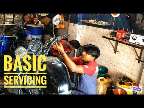 Bike Servicing | In Local Garage | Bike Service (sub Title)~Skinny Rider