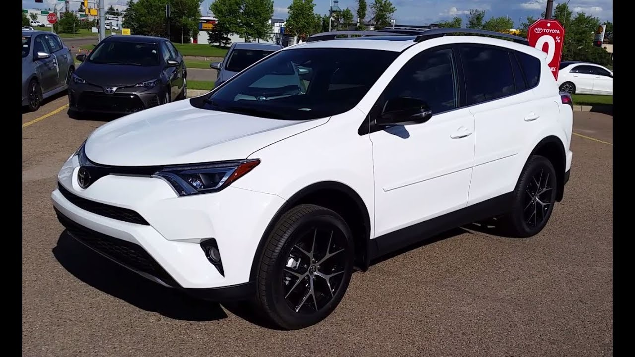 2018 Toyota Rav4 Se Awd In Alpine White Review And Walk