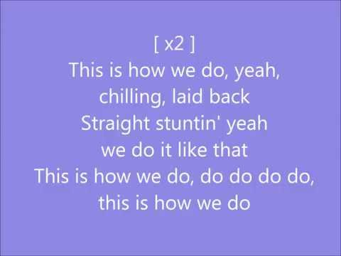 Katy Perry This Is How We Do Lyrics